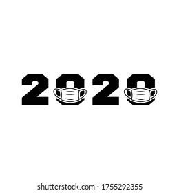 FACE MASK, 2020, COVID 19  VECTOR