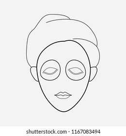 347 acne on your acne on your face images royalty free stock Spider Eyebrows vector illustration of face mask icon line isolated on clean
