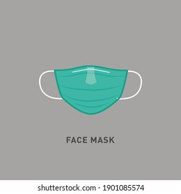 Face mask vector illustration. Vector of Surgical Face Mask sign. Warning sign, protective face mask in prevention vs virus infection in health care. Coronavirus protection mask icon.