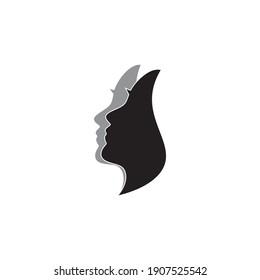 Face masks woman image vector illustration