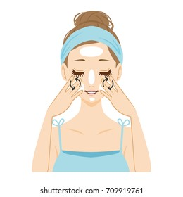 Face massage.