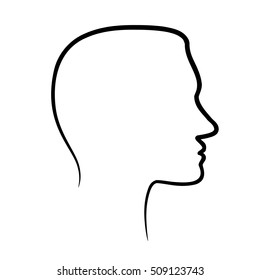 Face profile view.