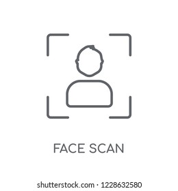 Face Scan Linear Icon Modern Outline Logo Concept On White Background From Smarthome