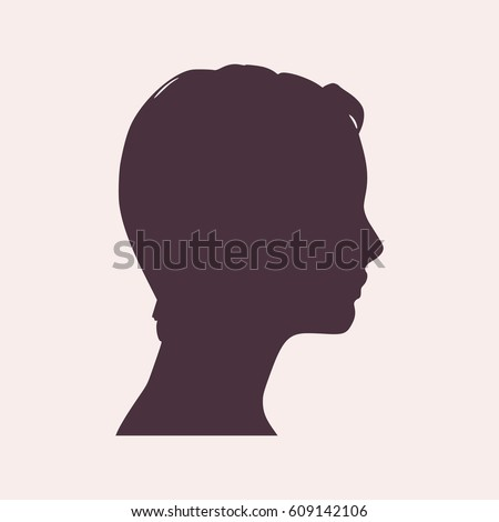 face side view elegant silhouette female stock vector royalty free