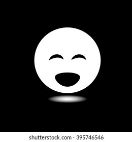 Face sign emotion smile icon. Vector illustration.