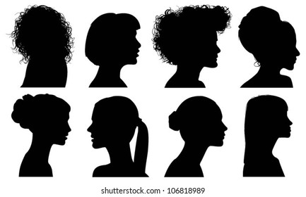 Face Woman Profile Vector Silhouette