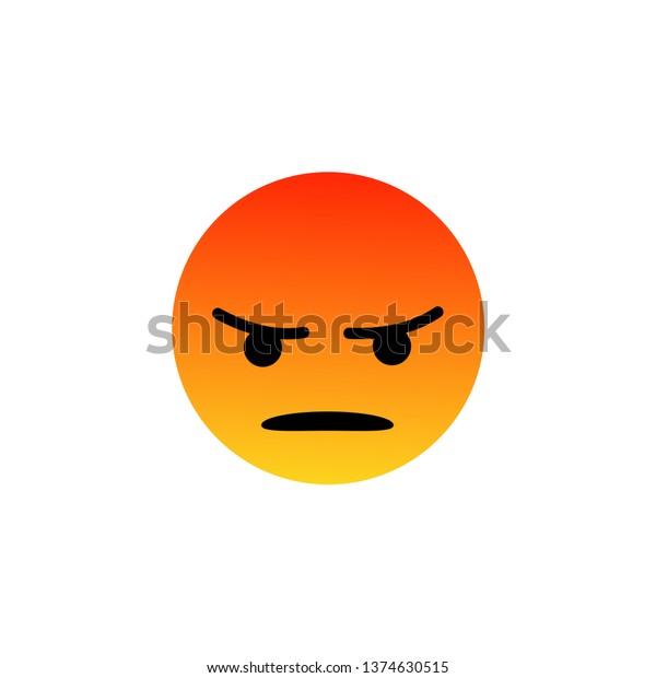 Image Vectorielle De Stock De Facebook En Colere Emoji Furieux Emoticon Les 1374630515