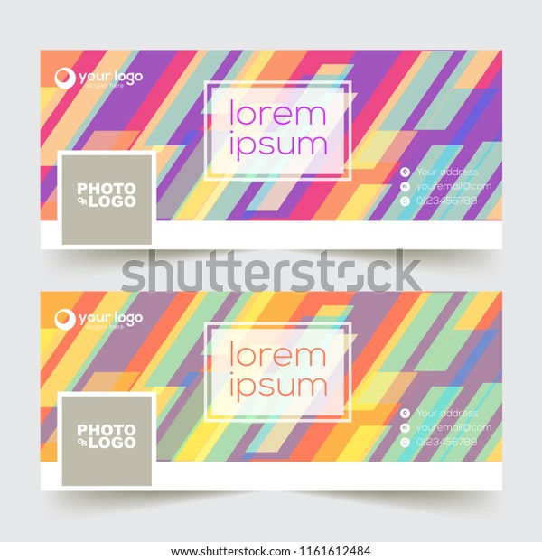 Facebook Cover Background Template Element Style Stock Vector Royalty Free 1161612484