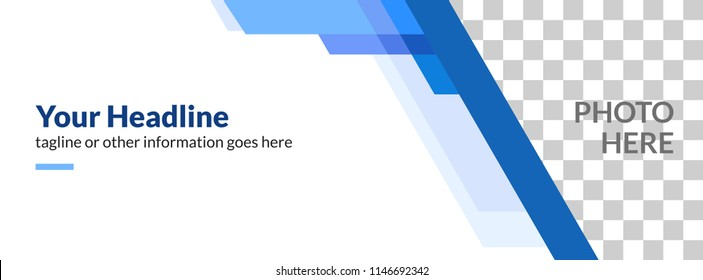 Facebook Cover Web Banner Social Media Business Company Blue Abstact Design Template Vector