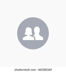 Facebook friends Icon Vector. Social Media illustration EPS. FB UI sign. User Interface symbol. 2016 design