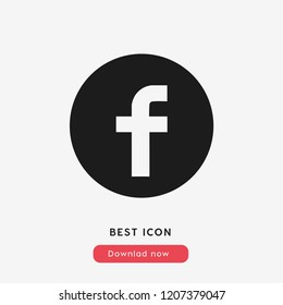 Facebook icon. F symbol. Social media symbol. Facebook logo. Facebook vector. Black fb logo.