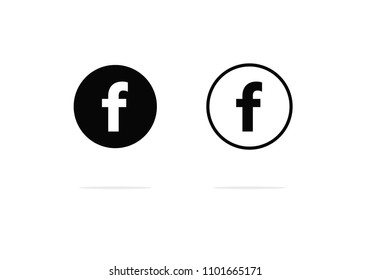Facebook Icon , facebook logo letter F social media icons