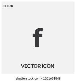 "Facebook icon vector illustration.Facebook social media vector icon.""f""letter typographic symbol.Premium quality."