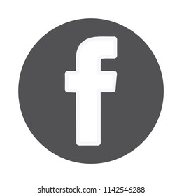 Facebook icon vector, Social media logo, web symbol