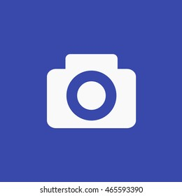 Facebook Post Photo Icon Vector. Camera Graphic. Social Media User Interface Sign. Share Picture flat Illustration. FB UI Symbol. 2016 Design