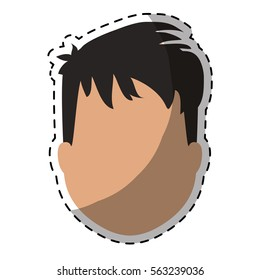 faceless man icon image vector illustration design