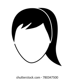 faceless woman profile avatar character