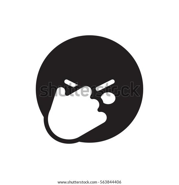 Facepalm Emoticon Icon Illustration Isolated Vector Stock