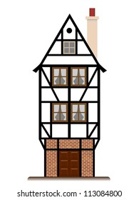 fachwerk house traditional cottage isolated