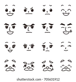 facial expression emotions set 02