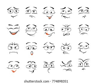 Facial expressions for female character illustration