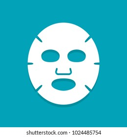 Facial mask flat icon. Medicine, cosmetology and health care. Vector illustration flat design