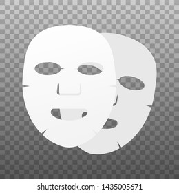 Facial mask flat icon. Medicine, cosmetology and health care. Vector stock illustration.