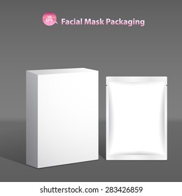 Facial mask packaging for cosmetics