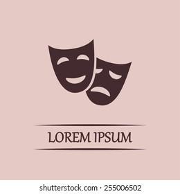 facial mask symbol vector illustration