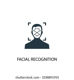 Facial Recognition icon. Simple element illustration. Facial Recognition concept symbol design from Augmented reality collection. Can be used for web and mobile.