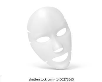 Facial sheet mask on white background. Vector illustration