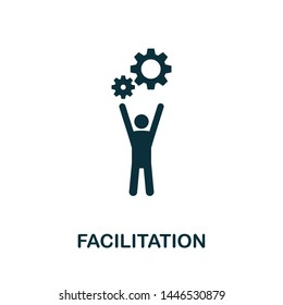 Facilitation vector icon illustration. Creative sign from agile icons collection. Filled flat Facilitation icon for computer and mobile. Symbol, logo vector graphics.