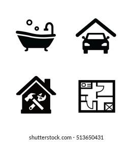 Facilities vector icons