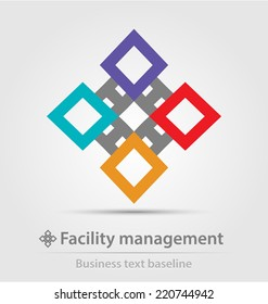Facility management business icon for creative design