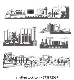 Factories silhouette patterns
