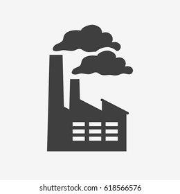 Factory icon isolated. Flat vector stock illustration