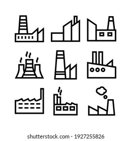 factory icon or logo isolated sign symbol vector illustration - Collection of high quality black style vector icons