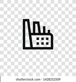 factory icon from miscellaneous collection for mobile concept and web apps icon. Transparent outline, thin line factory icon for website design and mobile, app development