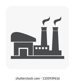 Factory icon on white.
