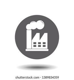 Factory icon. Vector symbol stock illustration web.