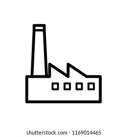 factory icon vector template