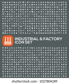Factory and industrial icon set design