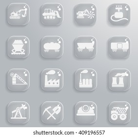 Factory and Industry  simply symbols for web and user interface