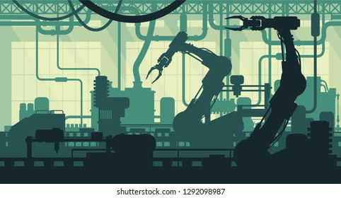 Factory interior illustration