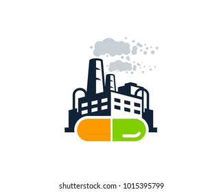 Factory Medicine Icon Logo Design Element