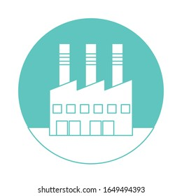factory plant building isolated icon vector illustration design
