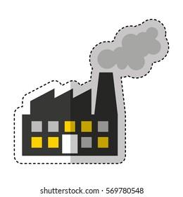 factory plant industrial building vector illustration design