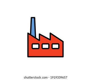 Factory premium line icon. Simple high quality pictogram. Modern outline style icons. Stroke vector illustration on a white background.