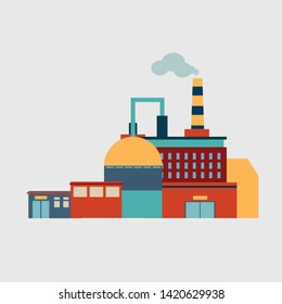 Factory, production technology. Vector isolated illustration