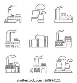 Factory Line Art Images, Stock Photos & Vectors   Shutterstock on
